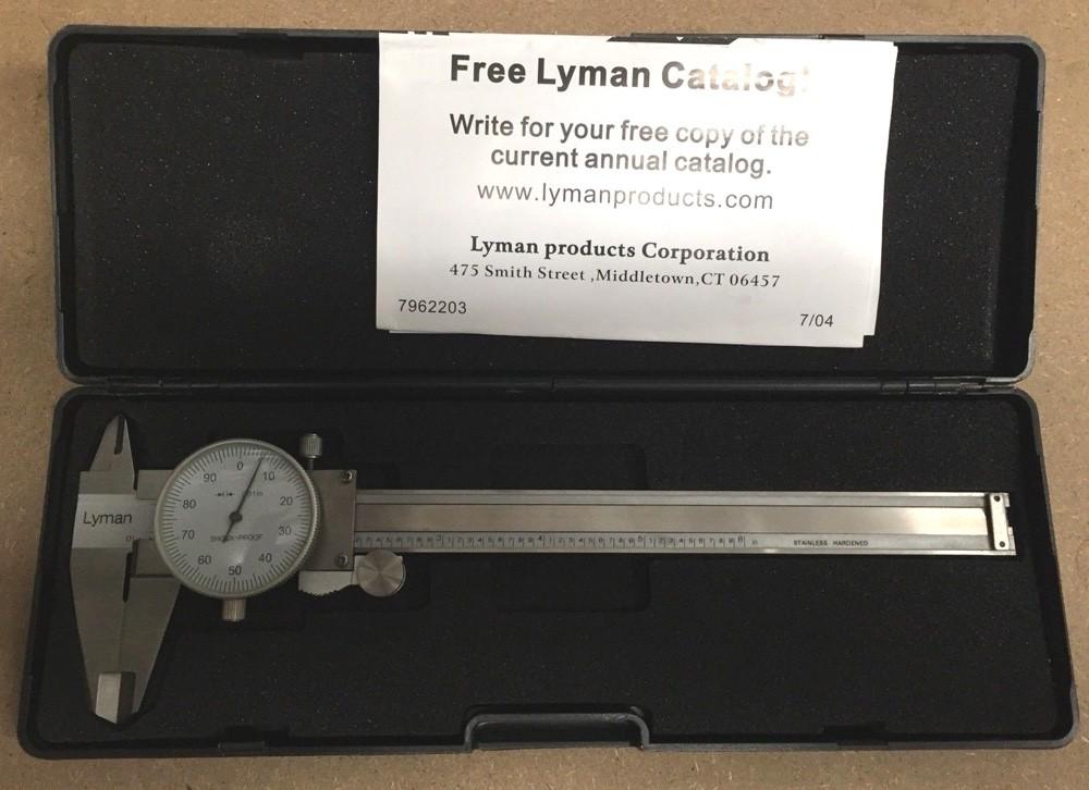 Lyman Reloading Stainless Steel Dial Caliper