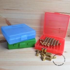 Коробка MTM для патронов калибра 9мм (на 100 патронов)