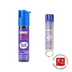 Баллончик газовый Sabre Red Blue Face (с синим маркером)