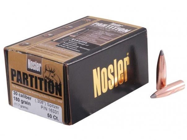 Пуля Nosler Partition SP калибр .30 (50 штук)
