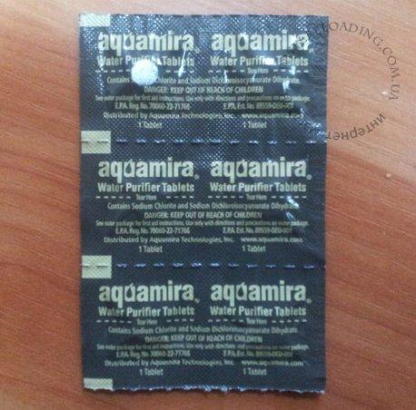 Таблетки для обеззараживания воды Aquamira (6 штук)