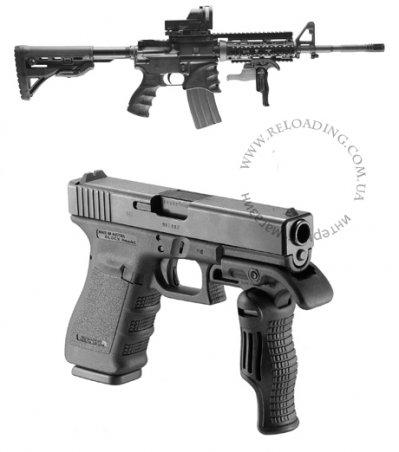 Складная тактическая рукоятка управления огнём FAB Defense FGG