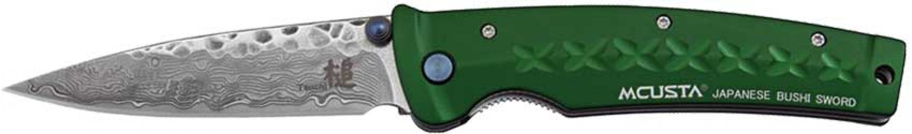 Нож Mcusta Fusion Damascus зеленый
