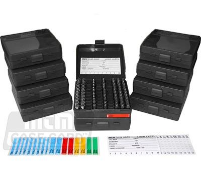 Коробка MTM для патронов калибра 9мм (черного цвета)