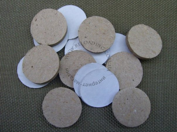 Набор картонных прокладок на порох и дробь для металлической гильзы (16-й калибр)
