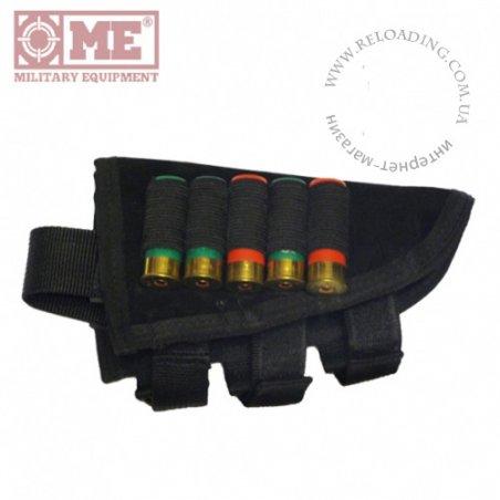 Подщечник с патранташем на 5 патронов 12 калибра