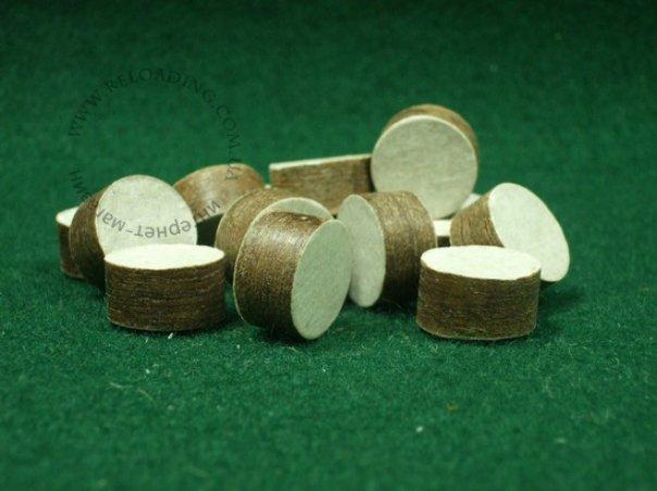 Пыжи древесноволокнистые осаленные для латунной гильзы (12-й калибр)