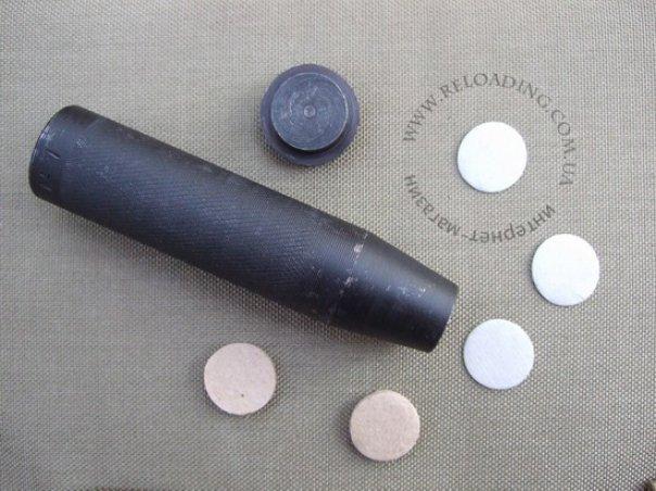 Высечка пыжей (12-й калибр, под металлическую гильзу)