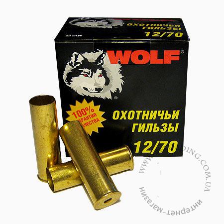 Гильза латунная (12 калибр) WOLF